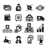 Icone di finanza. Illustrazione di vettore Fotografia Stock