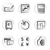 Icone di finanze Fotografia Stock