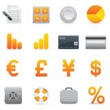 Icone di finanze | Colore giallo 04 Fotografie Stock
