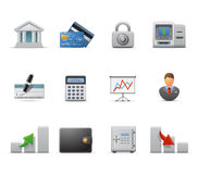 Icone di finanze e di affari Fotografie Stock