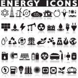 Icone di fonti di energia messe illustrazione di stock