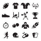 Icone di football americano fotografia stock libera da diritti