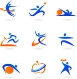Icone di forma fisica - 2 Fotografia Stock Libera da Diritti
