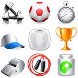Icone di forma fisica. Fotografia Stock