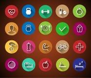 Icone di forma fisica Fotografie Stock Libere da Diritti