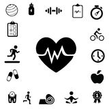 Icone di forma fisica e di salute Fotografia Stock
