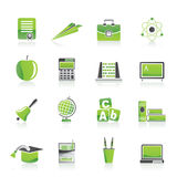 Icone di formazione e del banco Immagine Stock