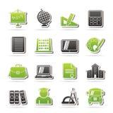 Icone di formazione e del banco Fotografie Stock