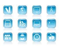Icone di formazione e del banco Immagini Stock