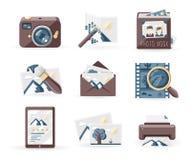 Icone di fotografia Immagini Stock