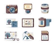 Icone di fotografia Fotografia Stock