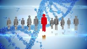 Icone di genere e DNA royalty illustrazione gratis
