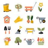 Icone di giardinaggio fotografia stock
