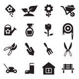 Icone di giardinaggio Immagine Stock Libera da Diritti