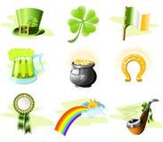 Icone di giorno della st Patrick illustrazione vettoriale