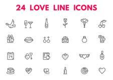 Icone di giorno e di nozze di biglietti di S. Valentino Immagine Stock