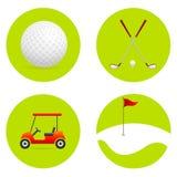 Icone di golf illustrazione vettoriale