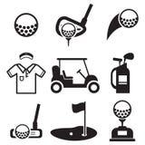 Icone di golf Fotografie Stock Libere da Diritti