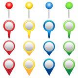 Icone di GPS Fotografia Stock