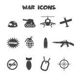 Icone di guerra Immagine Stock Libera da Diritti