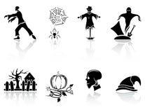 Icone di Halloween Fotografia Stock Libera da Diritti