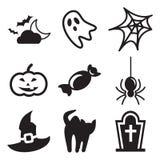Icone di Halloween Fotografie Stock