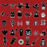 Icone di Halloween Immagini Stock Libere da Diritti