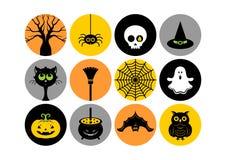 Icone di Halloween Illustrazione di vettore fotografia stock