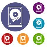 Icone di HDD messe Immagine Stock