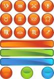 Icone di Horoscope dello zodiaco - rotonde illustrazione vettoriale