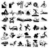 Icone di incidente messe Fotografia Stock Libera da Diritti