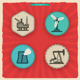 Icone di industria Immagini Stock Libere da Diritti