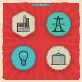 Icone di industria Immagine Stock Libera da Diritti
