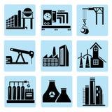 Icone di industria, centrale elettrica Fotografia Stock Libera da Diritti