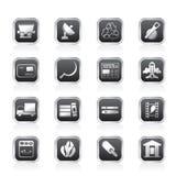 Icone di industria e di affari Fotografie Stock