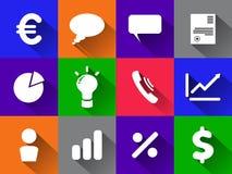 Icone di Infographic Insieme di vettore degli elementi di affari Illustrazione di vettore Fotografia Stock