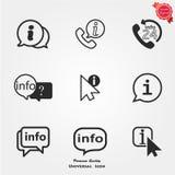 Icone di informazioni Immagine Stock Libera da Diritti