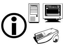 Icone di informazioni Fotografia Stock