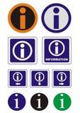 Icone di informazioni di vettore illustrazione di stock