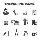 Icone di ingegneria illustrazione vettoriale