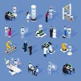 Icone di intelligenza artificiale messe Fotografie Stock Libere da Diritti
