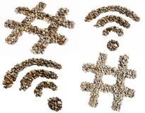 Icone di Internet Fotografia Stock