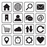 Icone di Internet e del sito Web Fotografia Stock