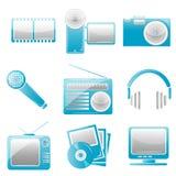 Icone di intrattenimento illustrazione di stock