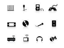 Icone di intrattenimento royalty illustrazione gratis