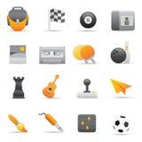 Icone di intrattenimento | Colore giallo 02 Immagini Stock Libere da Diritti