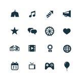 Icone di intrattenimento impostate illustrazione vettoriale