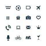 Icone di intrattenimento impostate illustrazione di stock