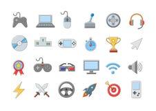 Icone di intrattenimento impostate Immagini Stock