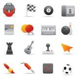 Icone di intrattenimento impostate   Serie rosso 01 royalty illustrazione gratis